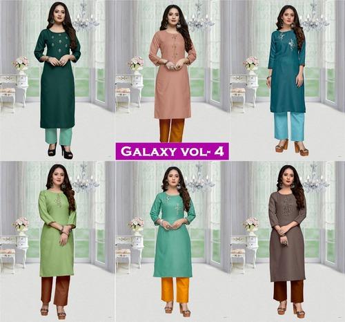 Galaxy Vol-4 Designer Galaxy Cotton Kurtis