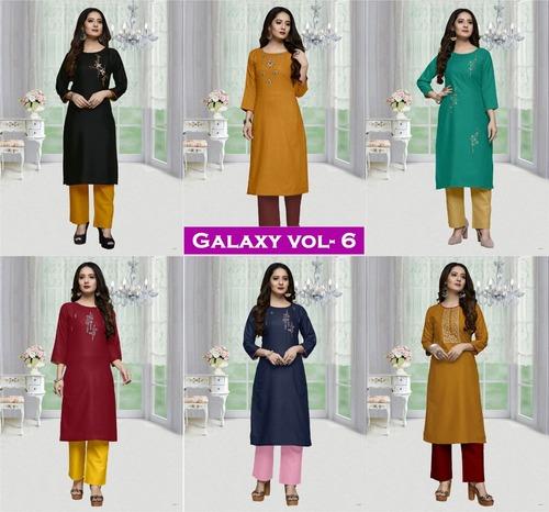 Galaxy Vol-6 Ladies Wholesale Cotton Kurtis