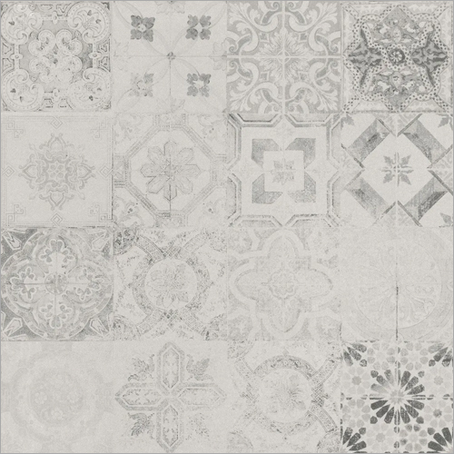 Akra Grey Patchwork Matt Glazed Vitrified Tiles