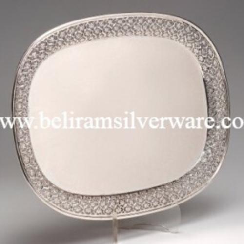 Cutwork Silver Tray