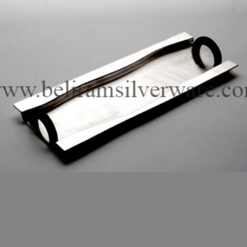 Modern Rectangle Silver Tray