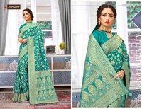 Polki Silk Designer Women Banarasi Silk Sarees