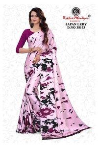 Satin Printed Women's Sarees