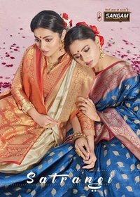 Satrangi Party Wear Heavy Handloom Silk Sarees