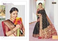 Satrangi Party Wear Heavy Handloom Silk Sarees