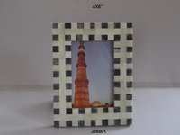 Bone Inlay Check Photo Frame