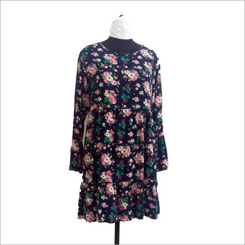 Ladies Floral Print Short Dress