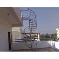 Round Stairs SS Railing