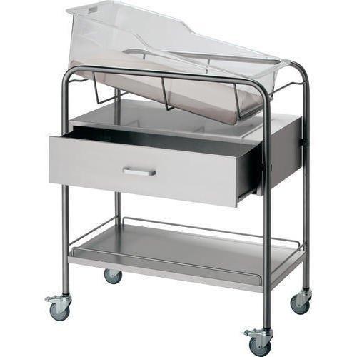 Stainless Steel Hospital Baby Bassinet