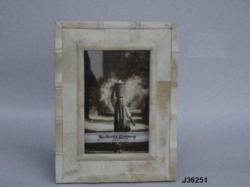Bone Inlay Photo Frame Bamboo Style Border