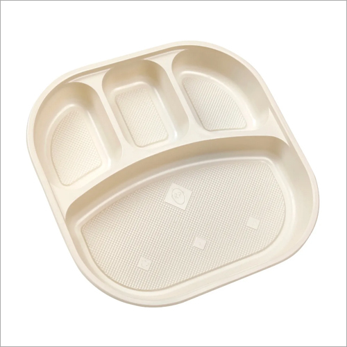 PVC Snacks 4 Compartment Plate