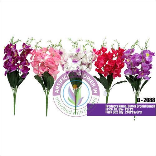 D2088 Artificial Butter Orchid Bunch