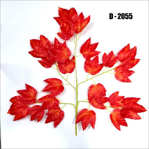 D2055 Red Mapple Artificial Leaves