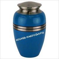 Blue Gloss Cremation Urn
