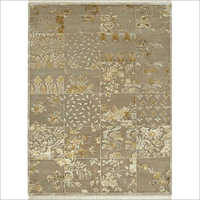 Hand Knotted Sterling Wool And Silk Rug