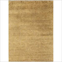 Hand Knotted Floret Wool And Silk Rug