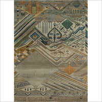 Hand Knotted Wool And Bamboo Silk Rug