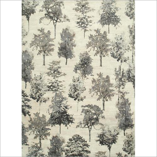 Flat Weave Wool And Bamboo Silk Rug