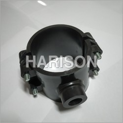 Black HDPE Service Saddle
