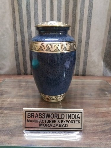 Brass Marble Finish High Quality Cremation Urn