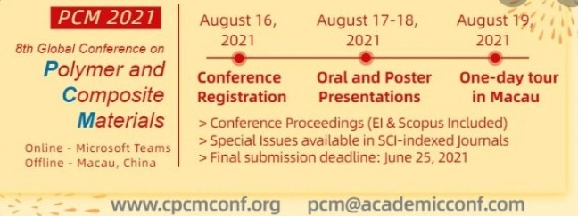 8th Global Conference on Polymer and Composite Materials (PCM 2021)