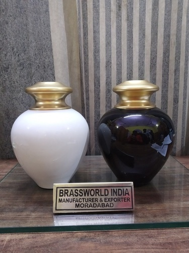 Black & White Satori Cremation Urn Funeral