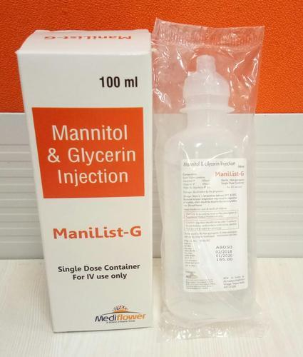 Mannitol (10%w/v) And Glycerin (10%w/v) Injection