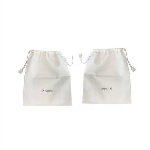 White Non Woven Shoe Bags