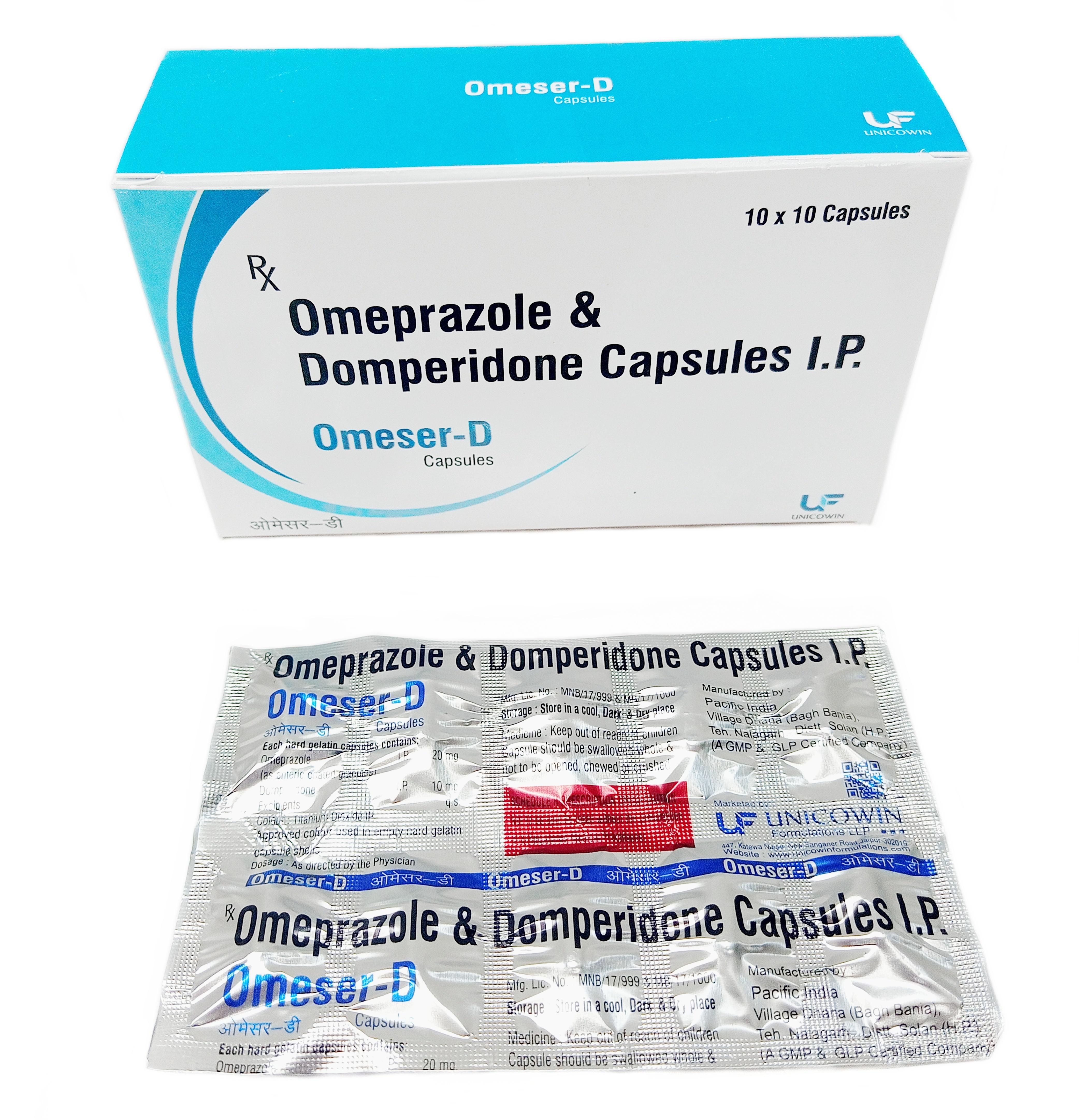 Omeprazole 20mg and Domperidone 10mg SR capsules