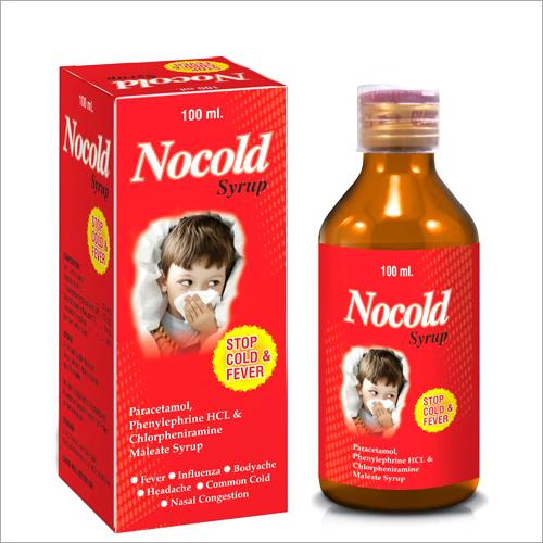 100 ml Paracetamol Phenylephrine HCL and Chlorpheniramine Maleate Syrup