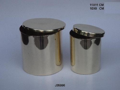 Brass  Vessels With Cover For Candles Brass Votive
