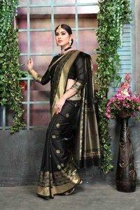 Pure Traditional Banarasi Silk Blend Saree