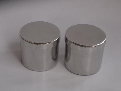 Steel  Candle  Vessels  Polished With Cover
