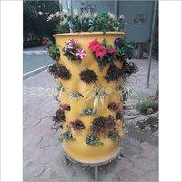 Plastic Garden Plant Pot With Compost