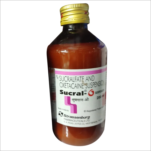 200 ml Sucral O Sucralfate and Oxetacaine Suspension Syrup