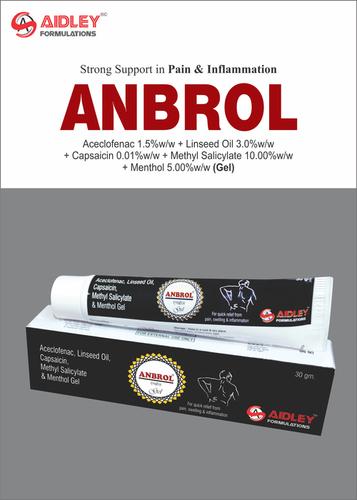 Aceclofenac 1.5% w/w + Linseec Oil 3.0% w/w + Capsaicin 0.01% w/w + Methyl Salicylate 10.00% w/w + Menthol 5.00% w/w GEL
