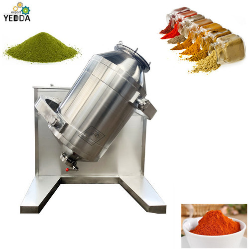 Electric stainless steel automatic Drum Spices Powder Mixing Machine for sale