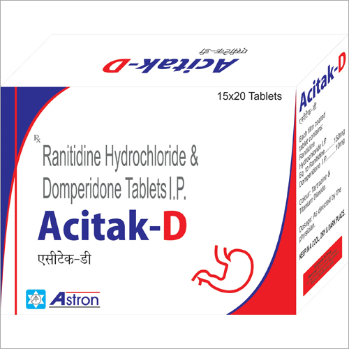 Ranitidine Hydrochloride and Domperidone Tablets