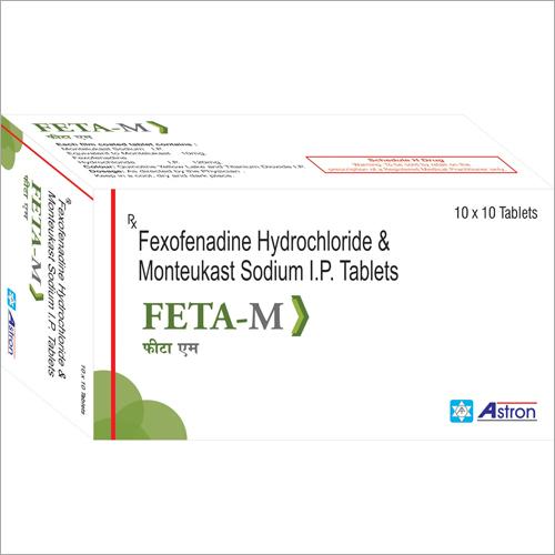 Fexofenadine Hydrochloride and Monteukast Sodium Tablets