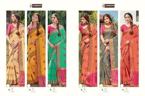 Sheesha Party Wear Cotton Handloom Sarees