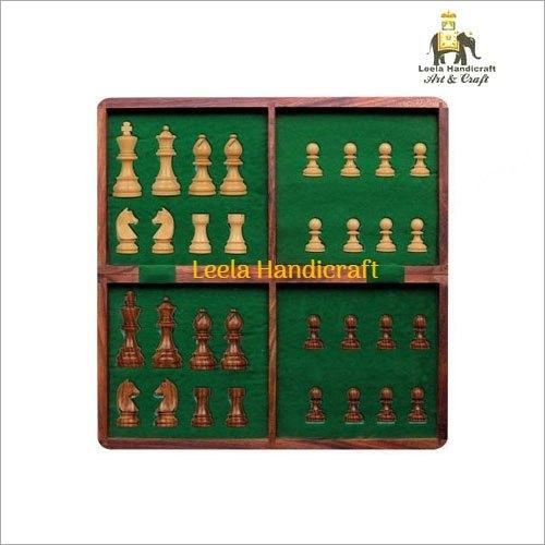 Wooden Folding Chess Board Set