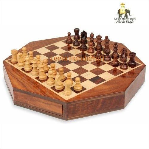 Wooden Octagonal Chess Board