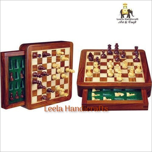 Wooden Drawer Chess Board Set