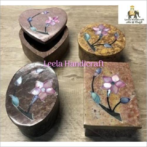 Soap Stone Box Inlay Work