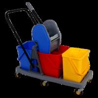 3 bucket mopping trolley