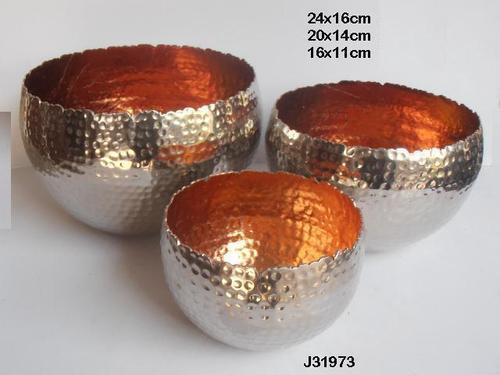Gold leaf votive hammered in silver colour