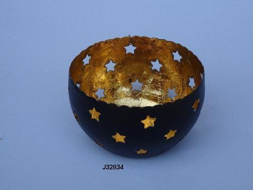 Gold leaf votive Christmas star design