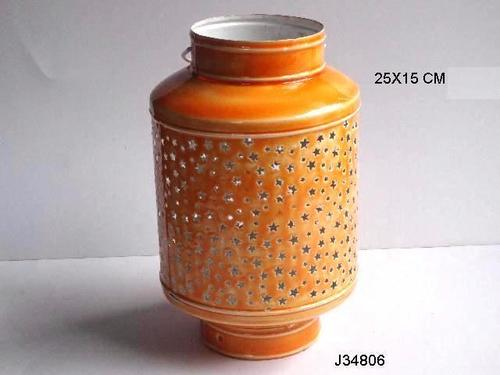Lantern Ceramic Finish Brown Color