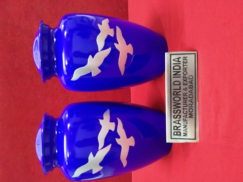 Aluminum Blue Going Home Cremation Urn Funeral Supplies