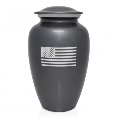 Aluminum Flag Cremation Urn Funeral Supplies